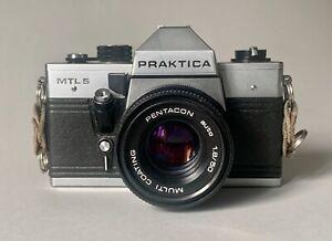 Appareil photo de collection Praktica MTL5 objectif pantacom 1.8/50