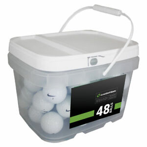 48 Nike Mix Used Golf Balls *No Markings or Logos! In a Free Bucket!