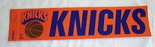 "1970's New York Knicks 4"" X 14"" Bumper Sticker Old School Vintage Very RARE NBA"