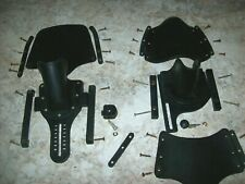 New listing Vintage Complete Black  Water Ski Bindings with hardware for a pair of skis