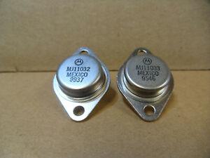 MJ11032+MJ11033 Audiotransistoren Motorola