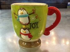 Penguin 3D Green Pedestal Footed Christmas Holiday Coffee Mug Cup From Target