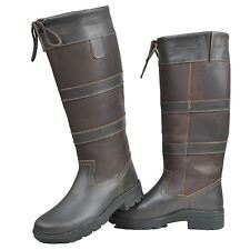 HKM Adults Belmond Winter Membrane Waterproof Fashion Leather Riding Long Boots
