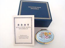 Halcyon Days Enamel Hinged Box - A daughter's a daughter all her life
