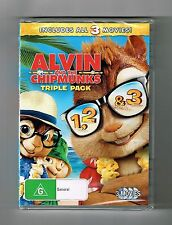 Alvin & The Chipmunks (3-Movies! Collection) Dvds Brand New & Sealed