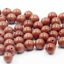 140Pcs Goldstone Gemstone Beads Finding