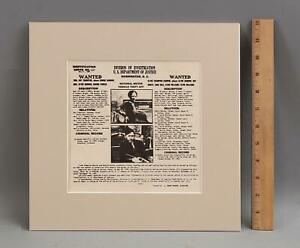 Authentic Original 1934 Bonnie & Clyde Barrow Post Office Mailer Wanted Poster