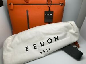 FEDON 1919 LEATHER AND NYLON BRIEFCASE