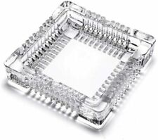 Crystal Glass Ashtray for Business Or Personal Use