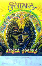 SANTANA Africa Speaks 2019 Ltd Ed New RARE Tour Poster+FREE Rock Poster! Carlos