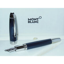 New Montblanc Meisterstuck Solitaire Blue Hour LeGrand Fountain Pen M23566 M Nib