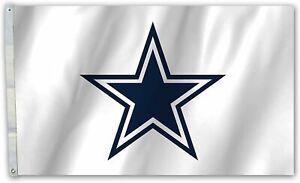 Dallas Cowboys White Highest Quality Premium 3x5 Flag w/grommets Banner Football