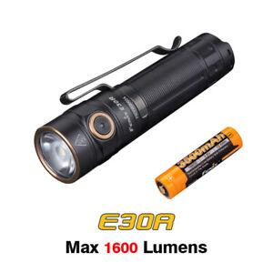 Fenix E30R USB Rechargeable 1600Lms EDC Compact Flashlight Torch+3500mAh Battery