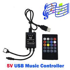 5V USB Music IR Controller 20 key Remote Sound Sensor For 5050 RGB LED Strip