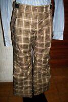 Pantalon FEMME de snow ski écossais marron IGUANA W34 44/46FR