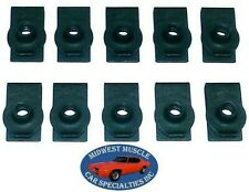 Chrysler Dodge Plymouth Factory Correct #10-24 Screw Bolt U Clips J Nuts 10pcs L
