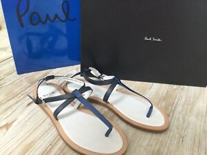 Paul Smith Ryde Blue Leather Sandals Size 5 Bnib