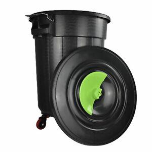 Lock Bin 120L with Wheels Rubbish Bin Black Colour Plastic Dustbin Lid