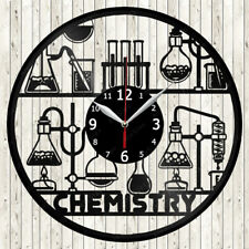 Chemistry Vinyl Record Wall Clock Decor Handmade 1471