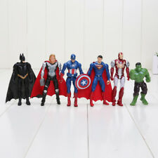 SET 6 PERSONAGGI AVENGERS ACTION FIGURE SUPERMAN BATMAN HULK CAPITAN AMERICA