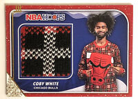 2019-20 Panini NBA Hoops Holiday Winter Coby White RC RARE Sweater Relic Rookie