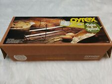 Vintage Pyrex Bake A Round Glass Bread Baking Tube  w/ Rack & Box Corning