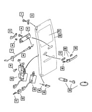 Genuine MOPAR Cargo Door Glass Right 5134325AA