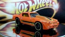 Hot Wheels 1981 Camaro Orange and Yellow Stripes Interior Clear Windows