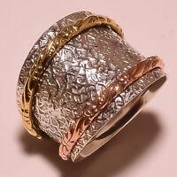 Solid 925 Sterling Silver Spinner Ring Meditation ring statement ring Size sr306