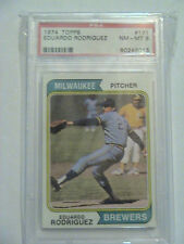 1974 Topps #171 Eduardo Rodriguez Milwaukee Brewers PSA 8 NM-MT