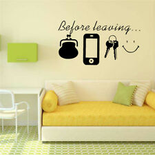 Before Leaving Letter Removable Vinyl Decal Art Mural Home Decor Wall Sticker