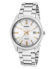 New Casio Men's Vintage Watch Stainless Steel Quartz Glass Silver