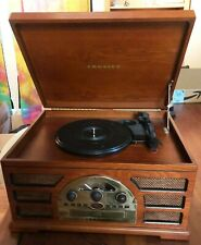 New listing Crosley Cr66 Stereo Turntable/Cd/Radio Sound Sysem w/ Casse 00004000 tte player