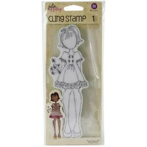 Prima Marketing Julie Nutting Mixed Media Cling Rubber Stamp KEIRA