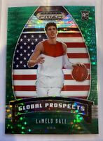 2020-21 Prizm Draft Picks LaMelo Ball RC Global Prospects *Green Pulsar* 19/25