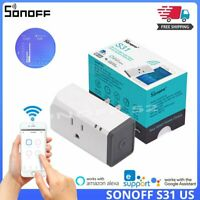 Sonoff S31 Mini Wifi Smart Plug Socket Switch Power Measure Monitor App Control