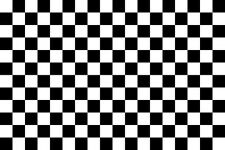 "Checkered Flag 1x 4""x6"" RACECAR CHECKERED FLAG Decal Bumper Sticker DC 739"