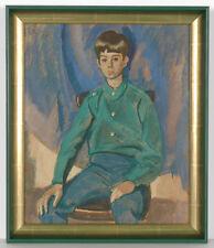 "Vladimir Vlasov (b.1927), ""Portrait of a Boy"", Tempera, 1977"