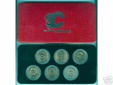 1982 CALGARY FLAMES BRONZE DOLLAR SET