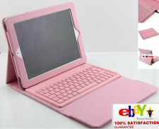 Pink leather Ipad Case Cover & Bluetooth® with Keyboard  For NEW Apple IPad® 3&4