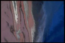 343094 Rosa e Blu su presentano piegature Argento Riflettore A4 FOTO STAMPA texture