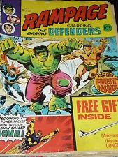RAMPAGE staring the DARING DEFENDERS Comic - No  1 - Date 19/10/1977 - UK Marvel