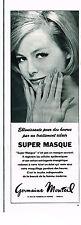 PUBLICITE ADVERTISING 044  1963  GERMAINE MONTEIL   cosmétiques   SUPER MASQUE