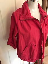Size 20 Spring Summer Cotton Pink 100% Cotton Utility/ Bomber Active Jacket