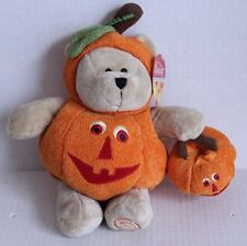 Starbucks Bearista Bear Pumpkin 2008 Halloween Plush Trick Treat 77th Edition