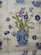 "SANDERSON CURTAIN FABRIC  ""A Painter's Garden""  3.5 METRES AMETHYST AND INDIGO"