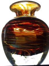 Heavy Mdina Glass Vase, 13 cm. Tall.