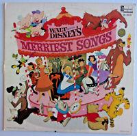 WALT DISNEY - Merriest Songs - Vinyl LP 1st 1968 Disneyland DL3510