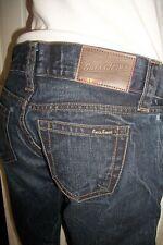 Pantalon jean bleu foncé délavé craquelé GUESS BEL AIR taille basse W29 38FR AS7