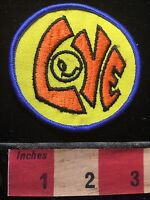 Weird Rare Printing Error ONE EYED CYCLOPS Version LOVE Patch 1980s 90s Era 72Y9